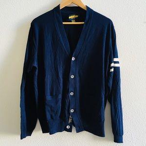 RALPH LAUREN RUGBY men's navy cardigan sweater L